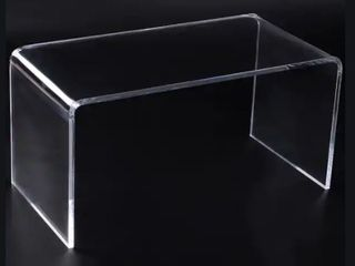 32  Rectangle All Acrylic Waterfall Coffee Table  Retail 197 49