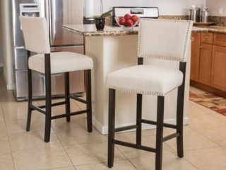 Mayfield Contemporary linen Barstool  Set of 2