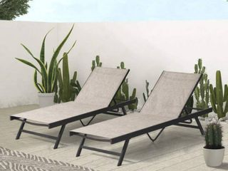 Crestlive Products Patio lounge Chair BEIGE  1