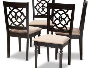 Copper Grove Modern Fabric Chairs  4 set