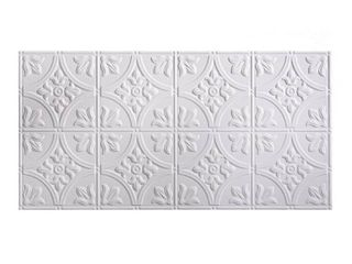 Fasade Traditional Style  2   2  x 4  Glue up Ceiling Tile