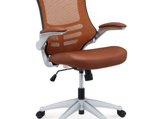 Porch   Den Williamsburg Modway Attainment Black Mesh Back and leatherette Seat Office Chair