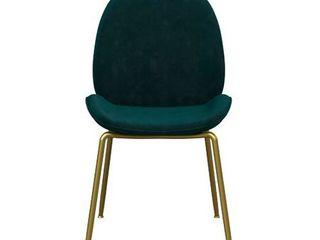 Astor Velvet Dining Chair Green   Cosmoliving by Cosmopolitan