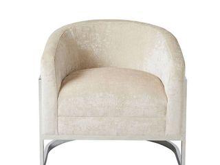 Madison Park Mateo Cream  Chrome Accent Chair Retail 489 99