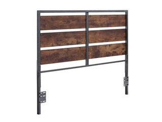 Carbon loft Jolly Rustic Open Plank Headboard   Queen