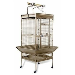 Prevue Select Wrought Iron Parrot Bird Cage 24x20x60  Pewter
