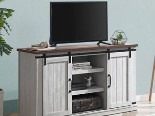 Wooden TV Stand w  Shelving