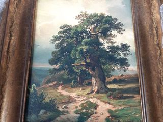 Oak by Ivan Shishkin Oil Painting Print on Museum Quality Canvas Gold 14 x 17 Framed Painting  Retail 267 49