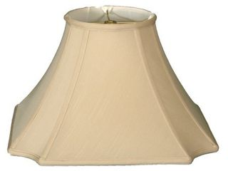 Royal Designs Square Inverted Cut Corner Basic lamp Shade  Beige  6 x 12 x 9 5