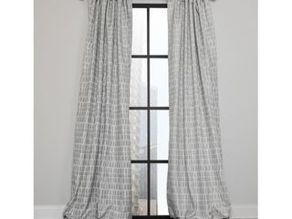 Ml19306 Patrice Blackout Thermal Rod Pocket Curtain Single Panel  52 by 63 Inch  Gray