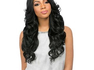 Empress Sensationnel Synthetic Custom lace Front Wig Perm Romance long Curly 1b