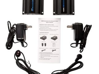 AGPTEK 1080P HD HDMI Network Extender Over Single Cat6 6A 7 Ethernet Cable