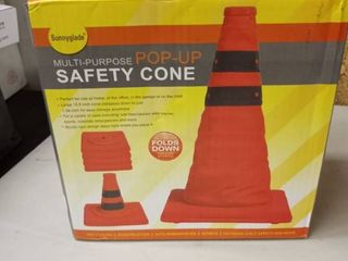 Sunnyglade 4 Pack 15 5 inch Collapsible Traffic Cones Multi Purpose