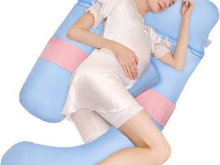 Joy best full body pregnancy pillow maternity pillow support for back hips legs and belly
