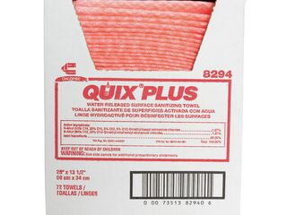 Chicopee Quix Pretreated Towels  Pink  72   Carton  Quantity