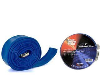Blue Devil 100 Foot Backwash Hose for Pool with Hose Clamp  2  W x 100  l