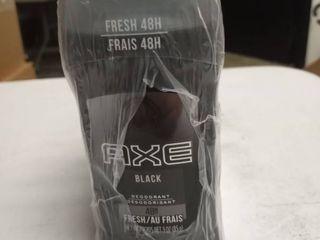 AXE Deodorant Stick for Men  Black  3 Ounce  Pack of 6