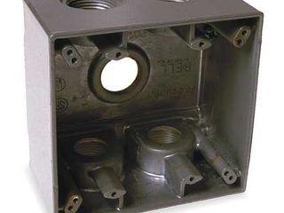 BEll 5388 0 Weatherproof Box 3 4 in Hub 5Inlet