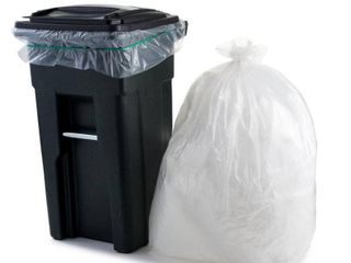 Plasticplace 64 65 Gallon Trash Can liners for Toter a 1 5 Mil a Clear Heavy Duty