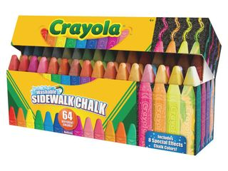 Crayola Sidewalk Chalk  Washable  Outdoor  Gifts for Kids  64 Count