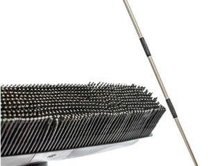 telescoping handle hair remover rubber broom with squeegee multi surface