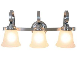 AF lighting 617204 24 Inch W by 11 Inch H by 7 1 2 Inch Proj  Sanibel lighting Collection 3 light Vanity  Brushed Nickel