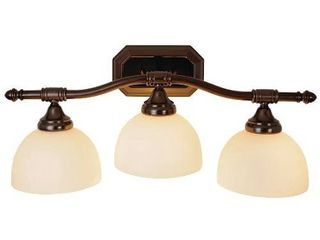 Decorative Vanity Fixture  Maximum Three 60 Watt Incandescent Medium Base Bulbs  24 In  Oil Rubbed Bronze