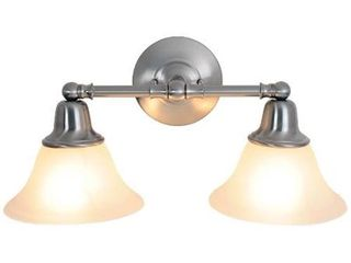AF lighting 617219 18 Inch W by 9 1 4 Inch H by 8 3 8 Inch Proj  Sonoma lighting Collection 2 light Vanity  Brushed Nickel
