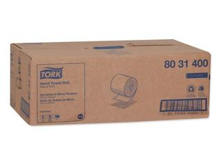 Universal Hand Towel Roll  Notched  8  x 800 ft  Natural White  6 Rolls Carton