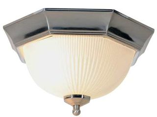 AF lighting 617030 11 Inch D by 6 1 2 Inch H Decorative Ceiling Fixture  Brushed Nickel