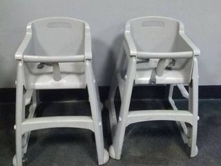 Two Rolling High Chairs