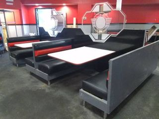 Four Booth Restaurant Seating Unit
