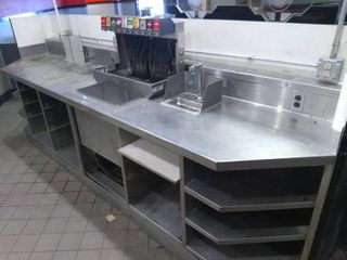 Stainless Steel Drink Station and Two Booths