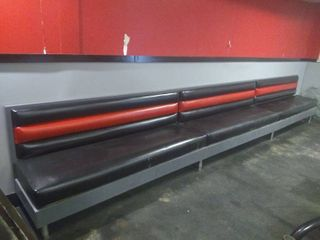 Row of Booth Bench Seats