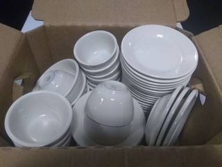 Box of Approx 52pcs Assorted Tableware