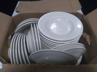 Box of Approx 32 Serving Plates