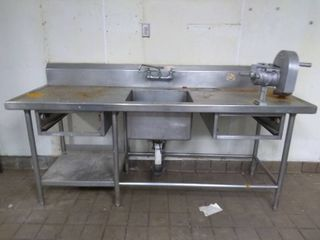 Stainless Steel Sink Table with Slicer