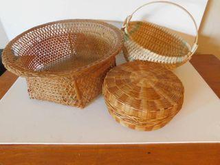 lot of 3 Baskets