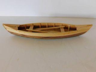 Miniature Wooden Canoe