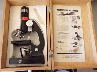 lAFAYETTE 900XZOOM MICROSCOPE IN BOX