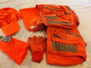 SAFETY ORANGE HUNTING ClOTHING