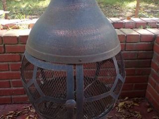 UPRIGHT FIRE PIT CHIMINEA
