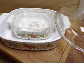 2 CORNING WARE DISHES W lIDS