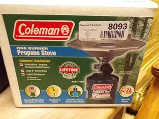 COlEMAN STOVE AND WATER JUG