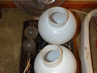 lIGHT GlOBES  FAN  ETC