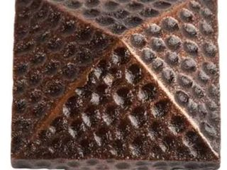 Copper large Pyramid Knob Set of Three