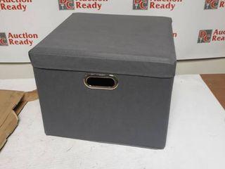 Jumbo Blocks Gray Storage Bin and Stool