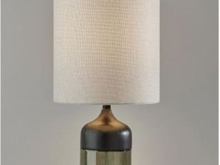 Smoked Glass Tall Table lamp  Retail 83 20