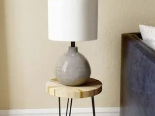 Picture Ceramic Accent Table lamp in Grey