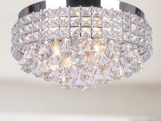 Crystal Flush Mount Chandelier   Retail 152 99